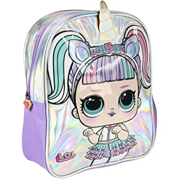 Cerda LOL Surprise School Backpack Unicorn Purple Silver
