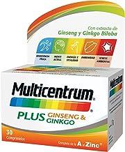 Multicentrum Plus complemento alimenticio con 13 Vitaminas, 8 Minerales, Ginseng y Ginkgo Biloba, Con Vitamina B1, B6, B12, Hierro, Vitamina C, Vitamina D - 30 Comprimidos