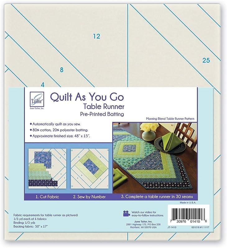 June Tailor Quilt As You Go Table Runner Quilt Pattern Morning Blend
