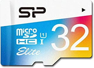 طاقة سيليكون 32 جيجابايت حتى 85 ميجابايت/ثانية Microsdhc UHS-1 Class10، بطاقة ذاكرة فلاش Elite مع محول (SP032GBSTHBU1V20AE)