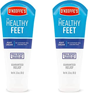 O'Keeffe's Healthy Feet Foot Cream, 3 ounce Tube, (Pack of 2)