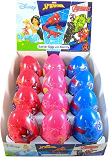 Assorted Disney Princess and Marvel Avengers Eggs with Candy, Pack of 12