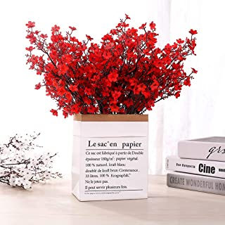 LUSHIDI 6PCS Artificial Baby Breath Flowers Fake Silk Real Touch DIY Floral Bouquets Decor Wedding Party Decoration Arrang...
