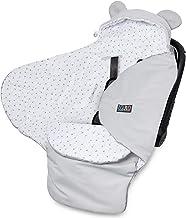 Lajlo Autositzdecke - Gemütlicher Reisewickel aus Baumwolle und Samt für Kindersitze, Kinderwagen für Neugeborene, Tragetasche, Tragetasche, Kinderwagen - Softcover und Schlafsack mit Hoodie