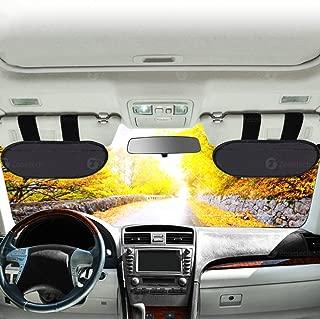 Car Visor Extender Sun Blocker – Zone Tech Anti-Glare Anti- Dazzle Sun & UV Rays Block Visor Windshield Extender for Car, Vans and Trucks