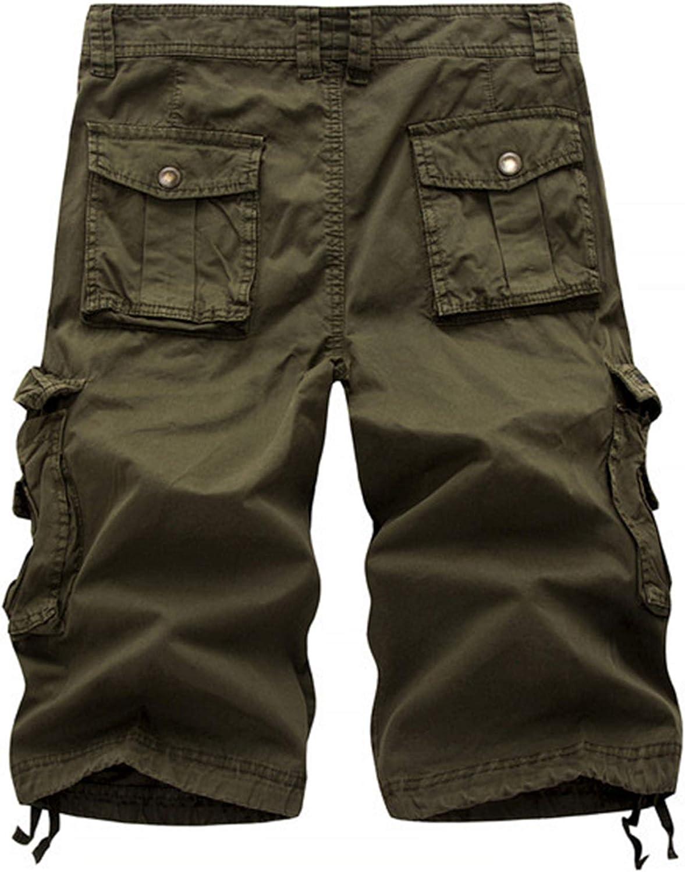 WSLCN Homme Shorts en Coton R/étro Baggy Cargo Camo Shorts Bermuda Outdoor Casual Combat Sport Shorts Pantacourt