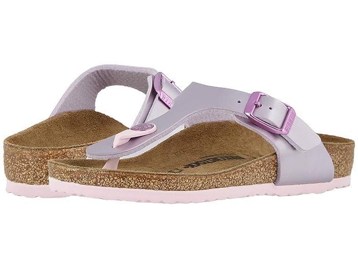 Birkenstock Kids  Gizeh (Toddler/Little Kid/Big Kid) (Electric Metallic Lilac) Girls Shoes