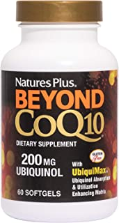 NaturesPlus Beyond CoQ10-200 mg Ubiquinol - 60 Easy to Swallow Softgels - High Potency, High Absorption Supplement, Promot...