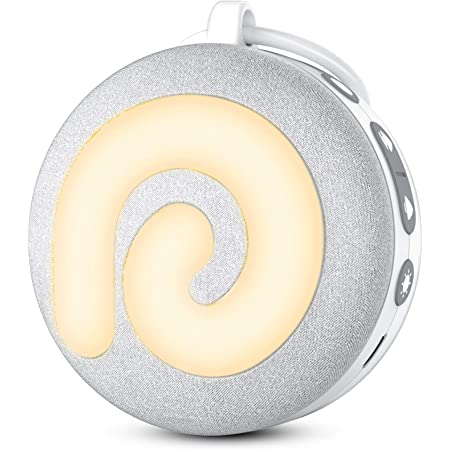 White Noise Machine - Dreamegg Portable White Noise Machine for Baby Sleeping with Night Light, Nature Sounds, White Noise and Lullaby, Child Lock, USB Rechargeable for On-The-Go Travel Nursery Gift