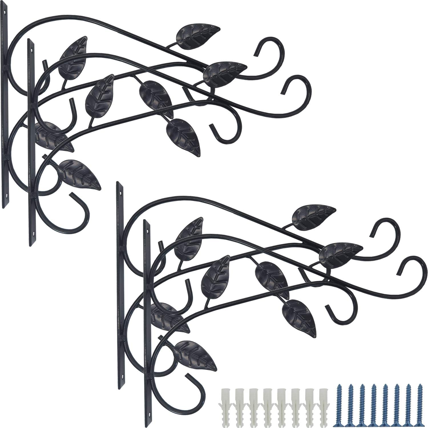 RONYOUNG 4PCS Recommendation Hanging Plant Bracket 12in Wrought At the price Metal Plan Iron