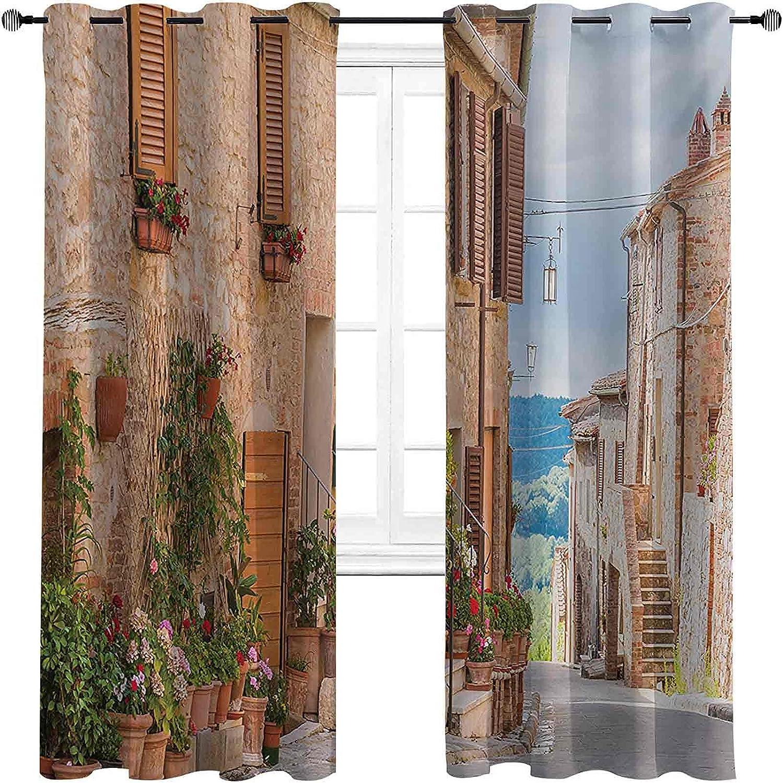 Mediterranean Superlatite High-Strength Blackout Curtains Town Medieval Old Popularity