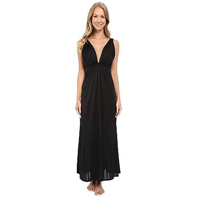 Natori Aphrodite Tank Gown (Black) Women