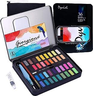 Vagalbox Pintura de Acuarela, con 36 Colores, se combina con