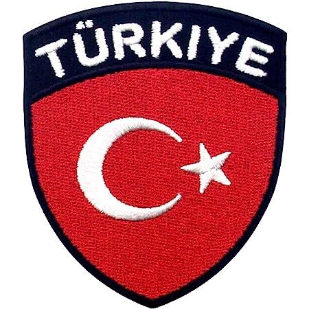 Drapeau de la Turquie Brod/é /à Repasser ou /à Coudre Patch