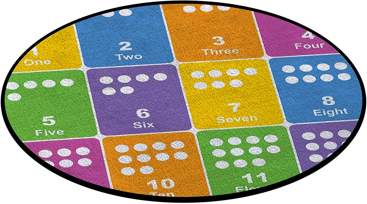 Excellent Colorful Numbers Round Super Special SALE held Area Rug Computer for Ch Office Desk Mats