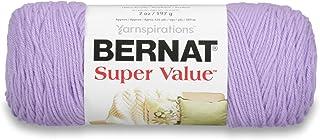 Bernat Spinrite Fil satiné, Acrylique, lilas, 25.4 x 11.43 x 11.43 cm, 1 paquet de 3 unités