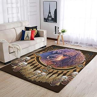 OwlOwlfan Tapis attrape-rêves confortable et durable pour chambre à coucher, canapé, salon, cuisine, café, bureau, blanc 1...