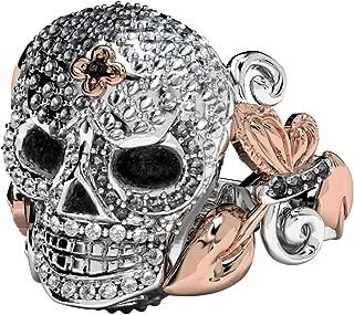 Women Skull Engagement Rings Promise Rings for Her Sterling Silver Skull Engagement Wedding Bands
