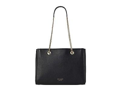 Kate Spade New York Amelia Pebble Large Tote (Black) Handbags