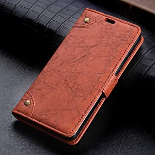 New Copper Buckle Retro Crazy Horse Texture Horizontal Flip Leather Case for Huawei P20 Pro, with Holder & Card Slots & Wallet (Black) Lipangp (Color : Brown)