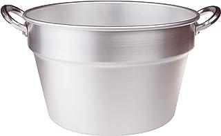 Pentole Agnelli FAMA85S60 Olla de Tomate de Aluminio con 2 Asas, Tipo Sur (Caldera), diámetro 60 cm, 96 litros, Plata