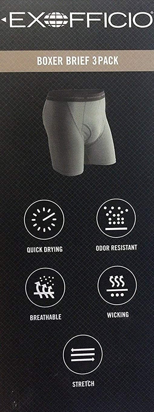 ExOfficio Give-N-Go Mens Boxer Briefs Underwear 3-Pack