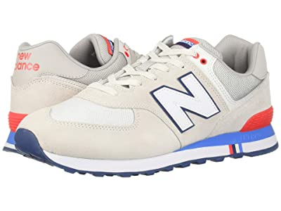 New Balance Classics 574 Summer Shore (Nimbus Cloud/Energy Red) Men