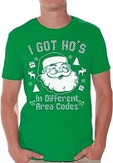 Christmas Santa Shirt Santa Christmas Tshirt Men's Holiday Tee Ugly Christmas T-Shirt Santa Gifts