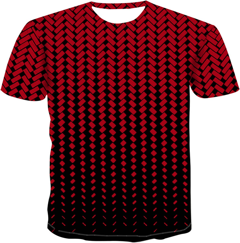 Tees Shirt for Mens, 3D Printing Tops Short Sleeve T-Shirt Blouse Summer Casual O-Neck T-shirts Tank Tops