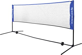SONGMICS Red de Tenis Badminton de Longitud- de Pie- Altura Ajustable Entre 107-155 cm