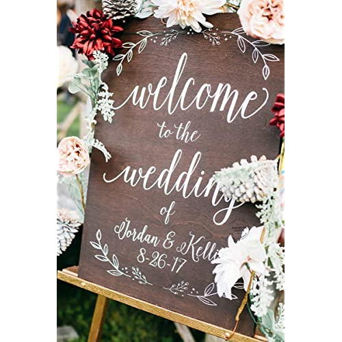 Welcome Wedding Sign With Stand Amazon Com