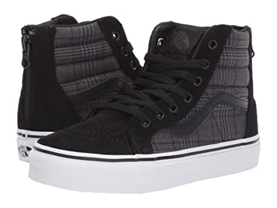 Vans Kids Sk8-Hi Zip (Little Kid/Big Kid) ((Suiting) Black/True White) Boys Shoes