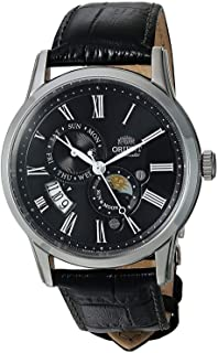 Orient FAK00004B Men's Sun and Moon Version 3 Multifunction Leather Band Automatic Watch