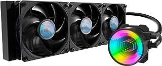Cooler Master MasterLiquid ML360 Mirror ARGB Close-Loop AIO CPU Liquid Cooler, Mirror ARGB Pump, 360 Radiator, Triple Sick...