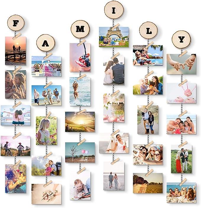 231 opinioni per Uping Portafoto Parete Multiplo Cornici Foto Appendi Foto con Mollette, con