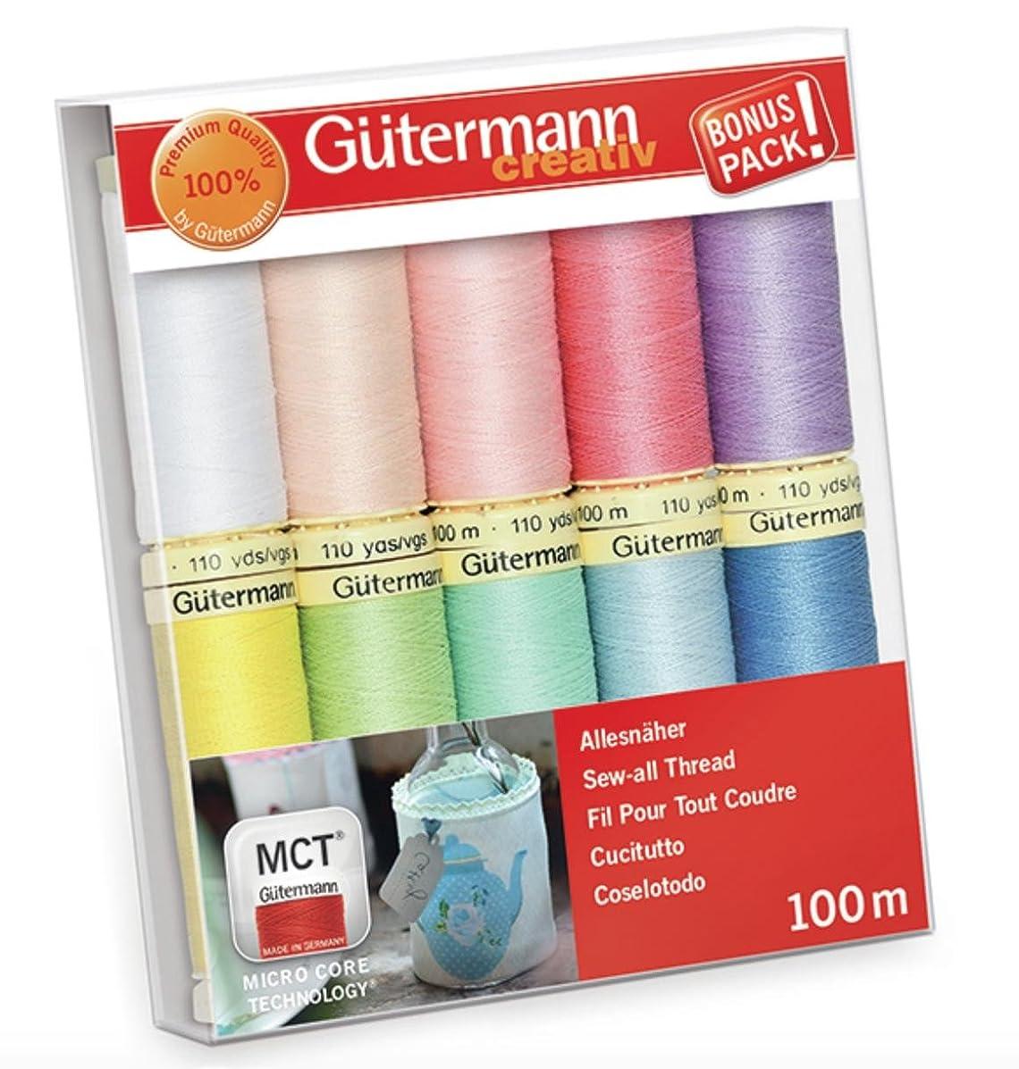 Gutermann Sew-All Pastels Set 100% Polyester Thread Set 10 x 100m Reels