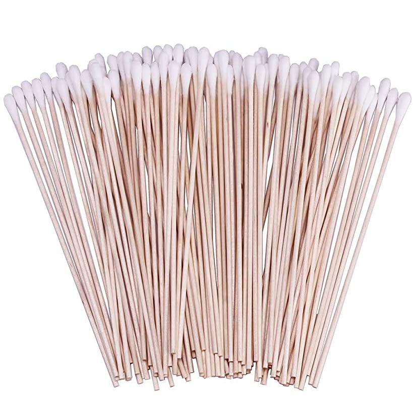 500 Pcs Count 6 Inch Cotton Swabs with Wooden Handles Cotton Tipped Applicator