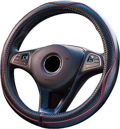 Universale in Pelle Sintetica Antiscivolo Colore: Nero//Auto//Auto DBS 1013071 Coprivolante su Misura per 208 e 308