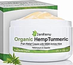 Organic Hemp Pain Relief Cream by ZenRenu - MSM Turmeric Arnica Salve - Hemp Oil Hemp Extract for Pain Cream