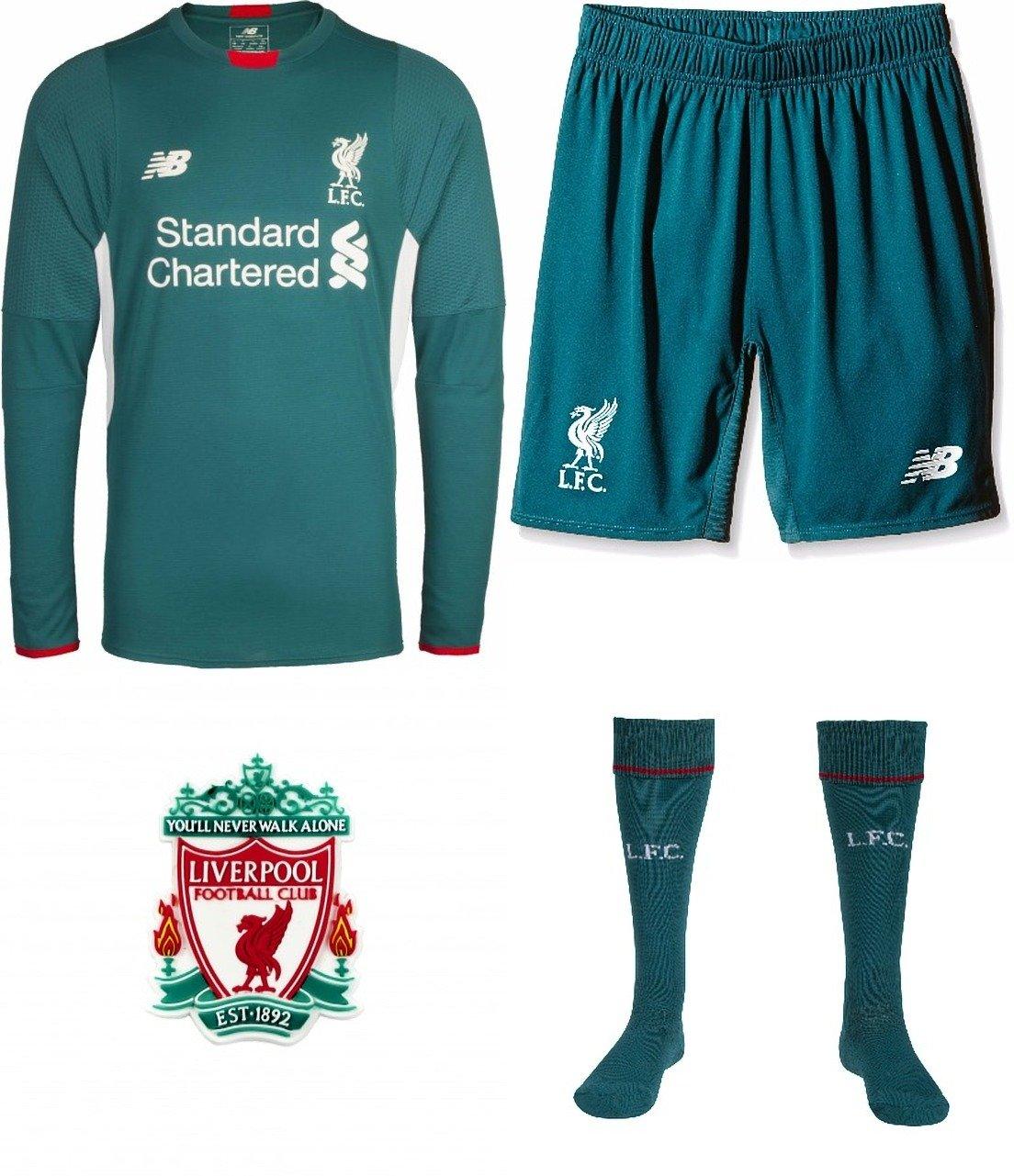 Liverpool Goalkeeper Full Kit Long Sleeve Shirt Shorts Socks Kids 2015 16 Small Boys 6 7 Years Amazon Co Uk Sports Outdoors