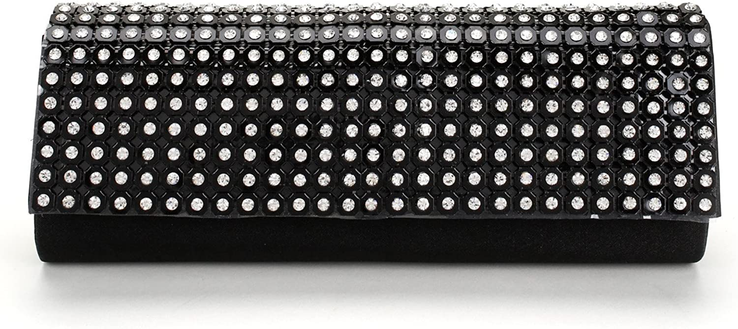 Elegant Rhinestone Mesh Design Evening Clutch Purse