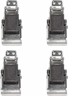 TCH Hardware 4 Pack Heavy Duty Stainless Steel Spring Loaded Toggle Draw Latch & Strike