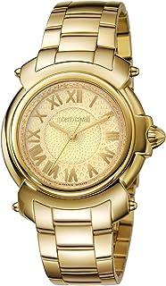 ROBERTO CAVALLI Women's Swiss-Quartz Watch with Gold Tone Strap, 17 (Model: RV1L005M0056)