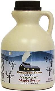 Ferguson Farms 100% Pure Vermont Maple Syrup, Grade A Dark, Jug 1 Pint (16oz)