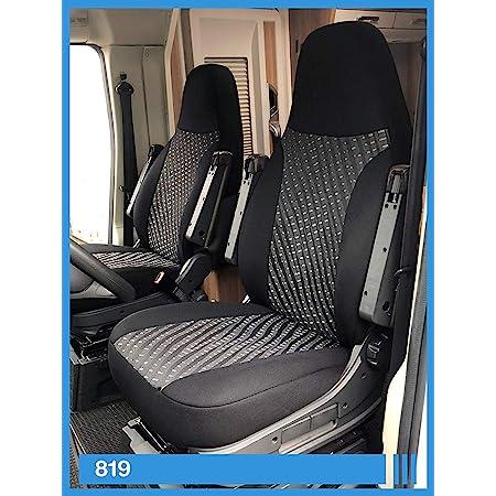 Bremer SitzbezÜge Maß Sitzbezüge Kompatibel Mit Wohnmobil Fahrer Beifahrer Schwarz 832 Auto