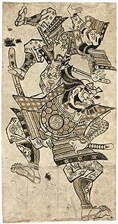 Saito Musashibo Benkei N(1155-1189) 日本の戦士モンクベンキ ファイティング・アナザー・ウォリアー ウッドカット マサノブ Okumura Early 18世紀 ポスタープリント (24 x 36)