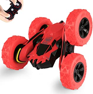 szjjx remote control car truck 4wd rc stunt car 2.4ghz double sided rotating 360° flips 7.5mph racing vehicles, kids toy cars gift for boys & girls birthday (battery not included)