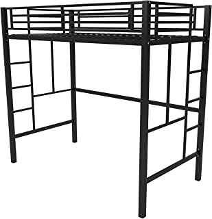 Your Zone Metal Loft Twin Bed by SuperIndoor (Single, Black) (Twin, Black)