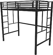 Your Zone Metal Loft Twin Bed by SuperIndoor (Single, Black)