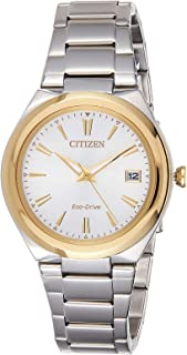 Citizen Women White Dial Stainless Steel Band Watch - Fe6024-55B